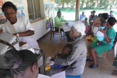 Immunization day at the health Centre